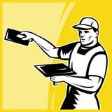 Fonctionnement d'ouvrier de marchand de plâtrier Photo stock