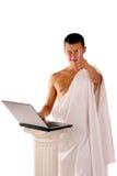 fonctionnement de cahier du grec ancien Image libre de droits