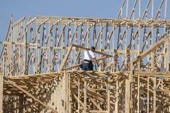 Fonctionnement de charpentier Photo libre de droits