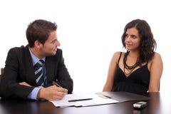 fonctionnement de couples d'affaires image stock