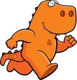 Fonctionnement de dinosaur Photo stock
