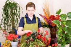Fonctionnement de fleuriste Image libre de droits