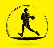 Fonctionnement de joueur de basket Image libre de droits