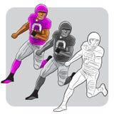 Fonctionnement de joueur de football américain Images stock