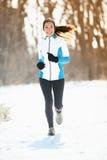 Fonctionnement de l'hiver photo stock