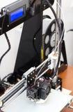 fonctionnement de mécanisme de l'imprimante 3d Photographie stock