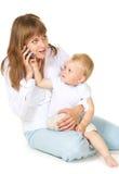 fonctionnement de maman Images stock
