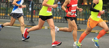 Fonctionnement de marathoniens Photographie stock libre de droits