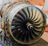Fonctionnement de moteur d'avions de Jumbo Image libre de droits