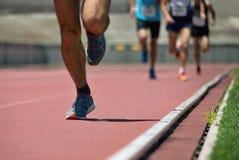 Fonctionnement de personnes d'athlétisme Photo stock