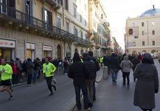 Fonctionnement de personnes nous organisons le concours de Rome Photographie stock