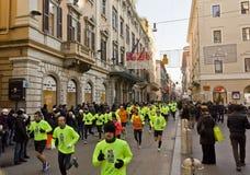 Fonctionnement de personnes nous organisons le concours de Rome Image stock