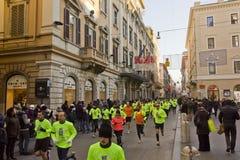Fonctionnement de personnes nous organisons le concours de Rome Photos stock
