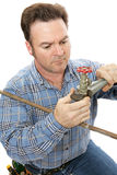 Fonctionnement de plombier Photos stock
