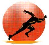 Fonctionnement de sprinter illustration libre de droits