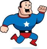 Fonctionnement de Superhero Photos stock