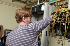 Fonctionnement de technicien Images stock