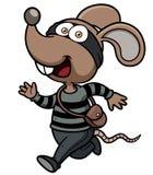 Fonctionnement de voleur de rat de bande dessinée Photos stock