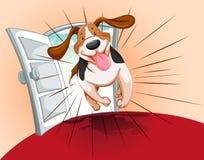 Fonctionnement espiègle d'animal familier illustration libre de droits