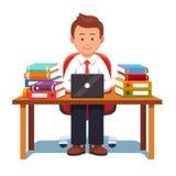 Fonctionnement et étude d'homme d'affaires illustration de vecteur