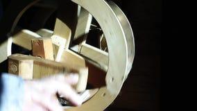 Fonctionnement fait main tourné de textile de tapis de vintage en soie de machine clips vidéos