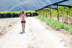 Fonctionnement femelle de triathlete Image libre de droits
