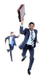 Fonctionnement heureux d'Afro-américain Image stock