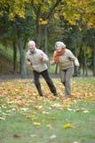 Fonctionnement mûr de couples Photographie stock libre de droits