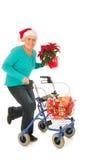 Fonctionnement pour Noël Photographie stock