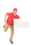 Fonctionnement rapide de type de la livraison de pizza Images libres de droits
