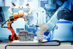 Fonctionnement robotique futé sur l'usine futée