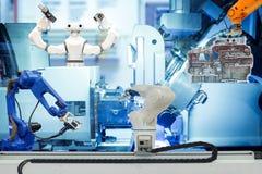 Fonctionnement robotique futé sur le concept futé d'usine