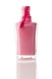 Fonctionnement rose de vernis à ongles Image stock