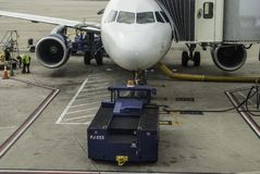 Fonctionnements au sol d'avions Image libre de droits