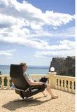 Fonctionner des vacances/à la maison Image stock