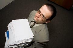 Fonctionner tard dans le bureau Image libre de droits