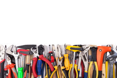 Fonctionnez les outils sur le fond blanc Photo libre de droits