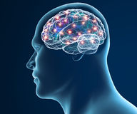 Fonctions de synapse de neurones de cerveau Images stock