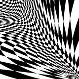 Fond à carreaux d'illusion de mouvement de conception Image stock