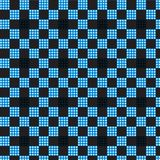 Fond à carreaux de noir de modèle de plaid blanc bleu Photo libre de droits