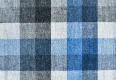 Fond à carreaux de texture de tissu Images libres de droits