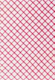 Fond à carreaux rouge et blanc de tissu Images libres de droits