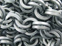 Fond à chaînes en acier Images stock