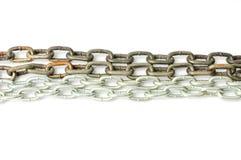 Fond à chaînes en métal Photo stock