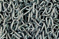 Fond à chaînes en métal Photos stock