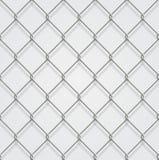 Fond à chaînes sans couture de barrière avec l'ombre Illustration de Vecteur