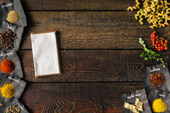 Fond à cuire créatif Configuration plate Photo libre de droits
