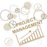 Fond à la gestion des projets, procédé de planification des affaires Abstraction illustration libre de droits