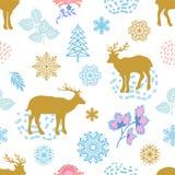 Fond à la mode de Noël Image libre de droits