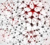 Fond à la structure moléculaire Photographie stock libre de droits